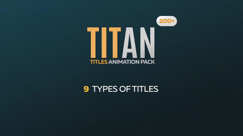 Titan - 200 Animated Titles Pack After Effects Template