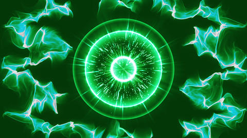 green Circle hit effect particle burst effect animation Animation