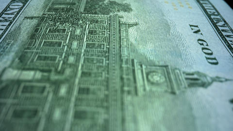 American paper cash money. US money banknote of new 100 dollars Live Action