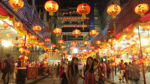 Bangkok, Thailand. 8th February 2016. Chinese New Year festival at Leng Noei Yi  Footage