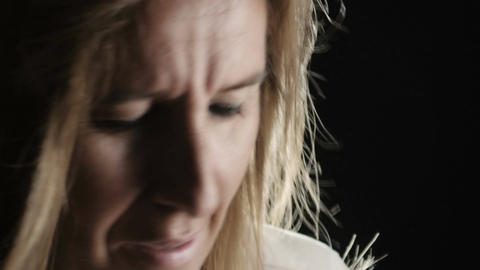 desperate woman crying: desperation, problems, suicide, loneliness Footage
