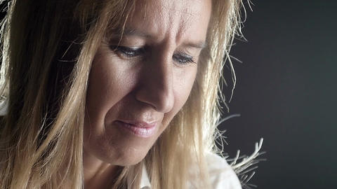 woman in prayer: desperate woman is praying, seeking god aid Footage
