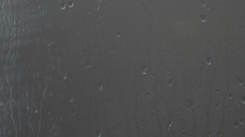 rain drops on the glass Footage