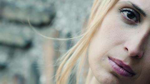 sad woman portrait: sadness, loneliness, depression, thoughtful Live Action
