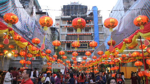 Chinese New Year festival at Leng Noei Yi temple in Bangkok's Chinatown 影片素材