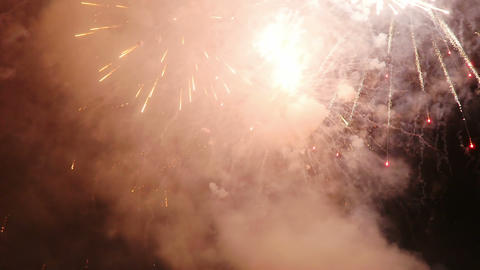 Fireworks on the night in Italy Footage