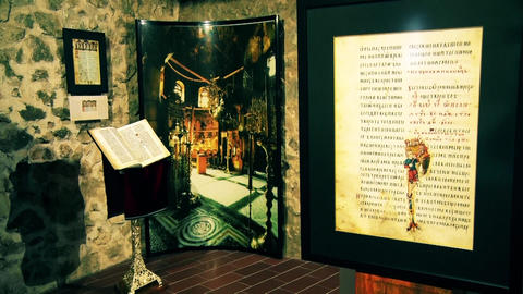 Old Slavonic writings and books in the old fortress Live Action