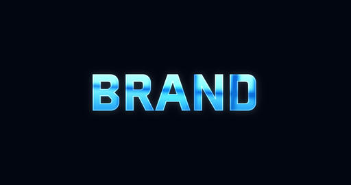 Brand. Electric lightning word. Text Animation Animation