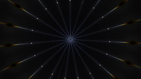 Dark abstract computer generated backdrop. 3d rendering of a tunnel of neon rays Animation