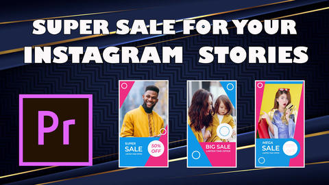 Super Sale Instagram Stories Premiere Pro Template