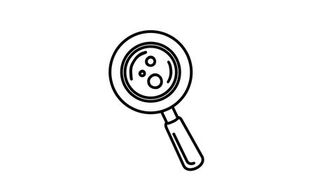 Magnifying glass line icon on the Alpha Channel Animation
