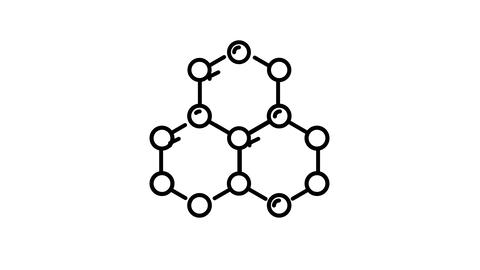 Molecular Structure line icon on the Alpha Channel Animation