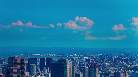 A timelapse of cityscape at the urban city at Azabu area in Tokyo high angle Live Action