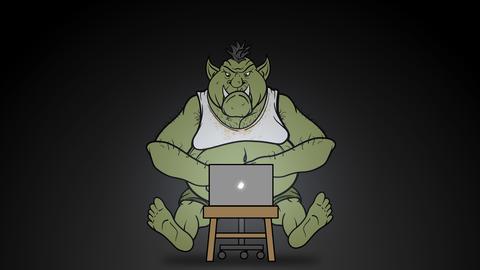 Animated Internet Troll Trolling Online Animation