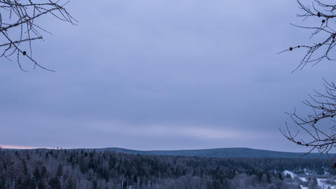 Overcast morning. Time Lapse Footage