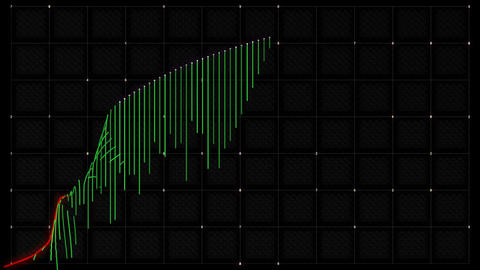 growth and success business green graph or chart 3d animation CG動画素材