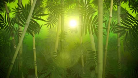 Green bamboo grove loop Animation