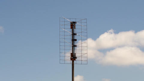 Home based digital tv antenna cloudy day time lapse Footage