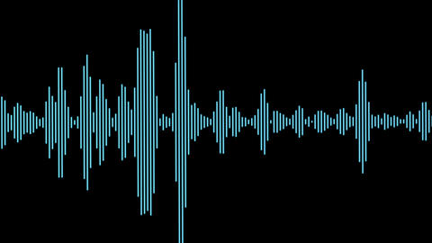 Equalizer Audio Spectrum Blue Dinamic Waves Background Animation
