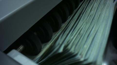 Automatic equipment for counting paper money. Cash money counting equipment Live Action