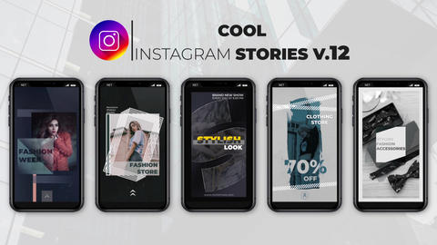 Cool Instagram Stories v 12 After Effects Template