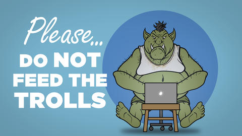 Please Do Not Feed the Trolls Sign Animation
