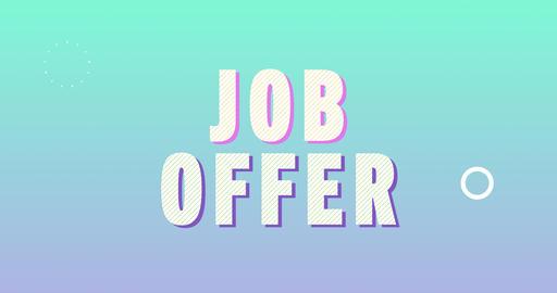 Job offer. Retro Text Animation Animation