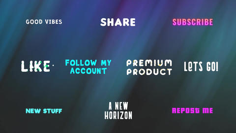 Creative Titles Pack Motion Graphics Template