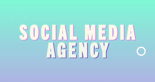 Social media agency. Retro Text Animation Animation