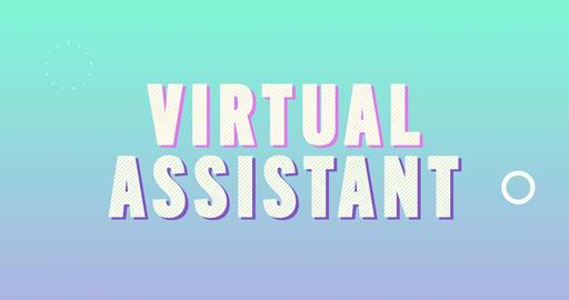 Virtual Assistant. Retro Text Animation Animation