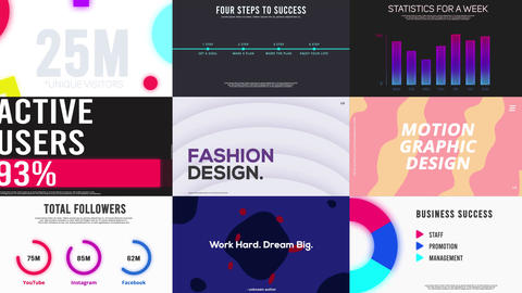 Infographics and Typography After Effects Template