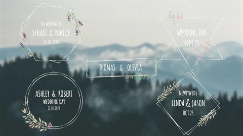 Wedding Titles V2 Motion Graphics Template