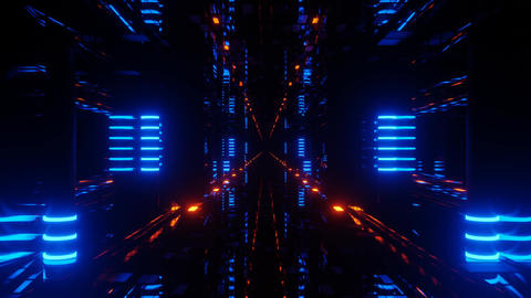Advanced Neon Light Cyberspace Tunnel 4k uhd 3d rendering vj loop Live Action