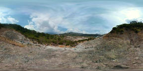 volcanic plateau Indonesia Dieng Plateau VR 360° Video