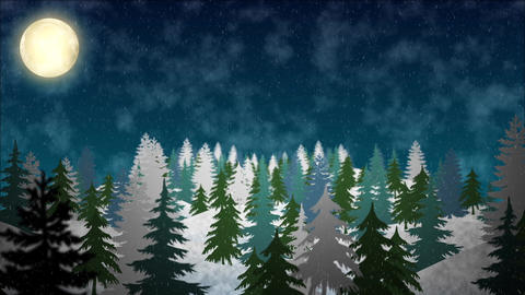 Snowy Hills Background Animation