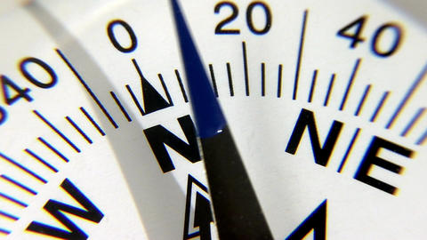 Compass in extreme closeup Footage