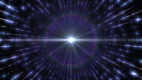 Illumination Glitter Tunnel Neon Space Star Particles Light LED abstract background Blue b Animation