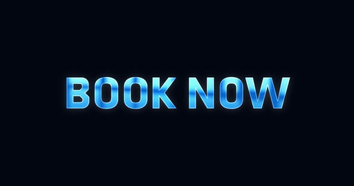 Book now. Electric lightning word. Text Animation Animation