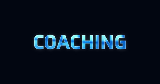 Coaching. Electric lightning word. Text Animation Animation
