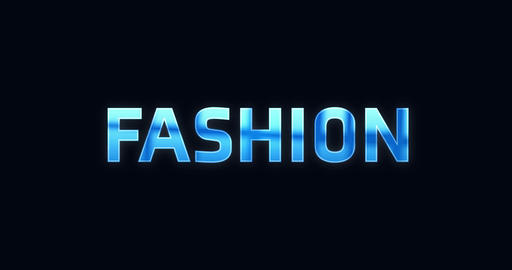 Fashion. Electric lightning word. Text Animation Animation