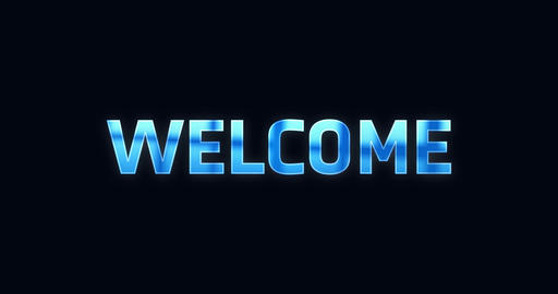 Welcome. Electric lightning word. Text Animation Animation