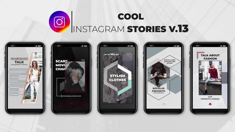 Cool Instagram Stories v 13 After Effects Template