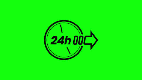 Transparent 24 hours clock open clock twenty four clock 24 hours icon open icon twenty four icon 24 Animation