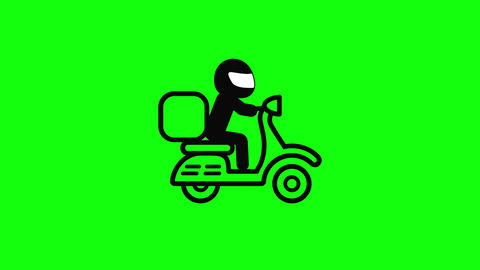 moto scooter delivery man pizza food scooter moto express delivery express food express moto icon Animation