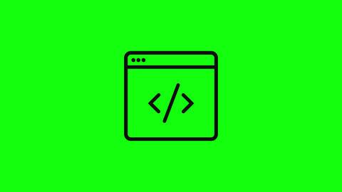 Transparent coding flat code html programming html coding language code language coding icon code Animation