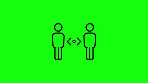Transparent social distancing between distance icon between social distancing keep distance keep Animation
