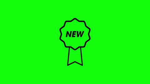 New medal ribbon prize ribbon award ribbon medal label New label award label medal icon prize icon Animation