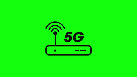 router line 5g line signal antenna line router logo 5g logo antenna logo router speed 5g speed Animation