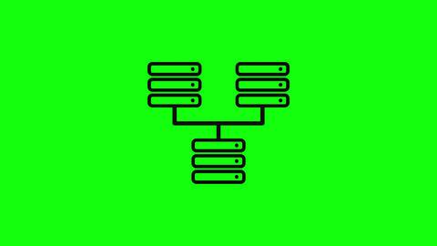 Transparent black icon big server icon hosting icon black big database server database hosting big Animation