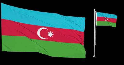Two flags waving Azerbaijan waving Azerbaijan waving flag national Azerbaijan national flags Animation
